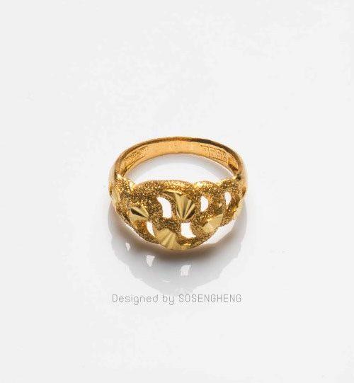 แหวนทองเนื้อดี แบบทันสมัย ใส่ได้ทุกโอกาส [0N0A1507]