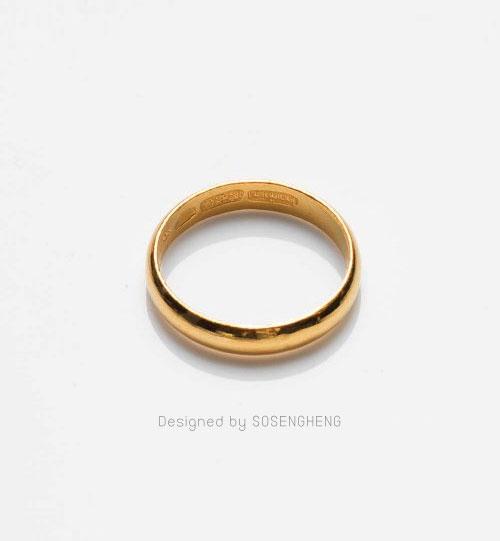 แหวนทองเนื้อดี กลมเกลี้ยง หรูหรา [0N0A1510]