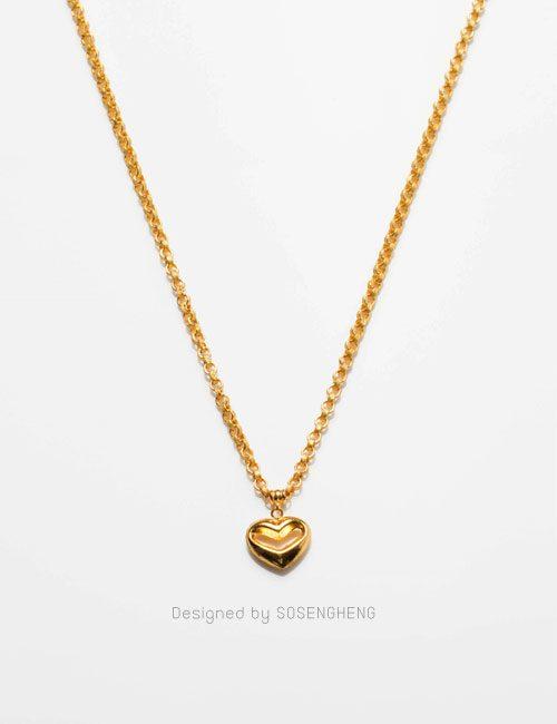 สร้อยคอทองคำ ติดจี้หัวใจ เรียบหรู งานดี ราคาพิเศษ