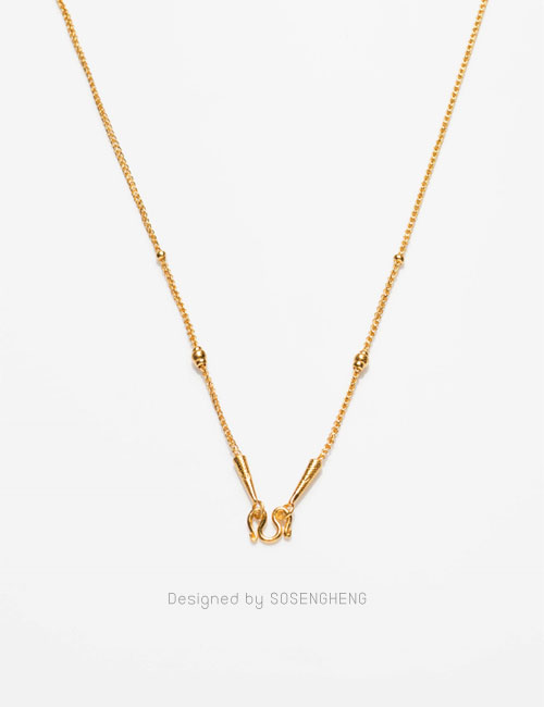 สร้อยคอทองคำ ลายสวย สายสร้อยมีข้อตกแต่ง สวมใส่ได้ทุกโอกาส