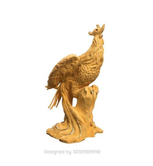 รูปปั้นหงส์ทองคำแท้ ขนาดจิ๋ว นำโชค เสริมสิริมงคล [PM003]